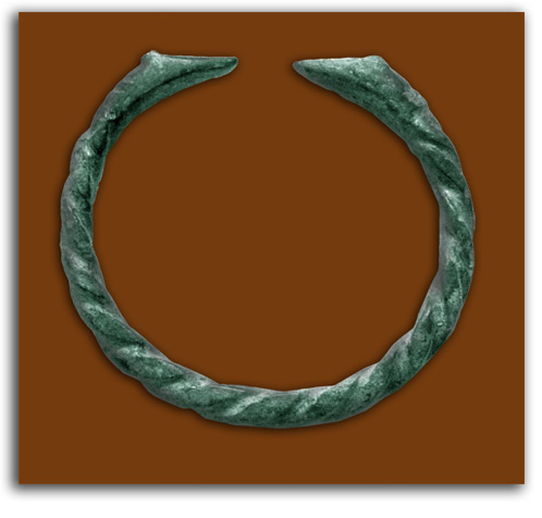 Image of bronze bracelet.