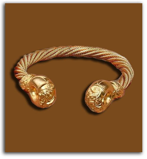 Image of Roman torc neck ring.