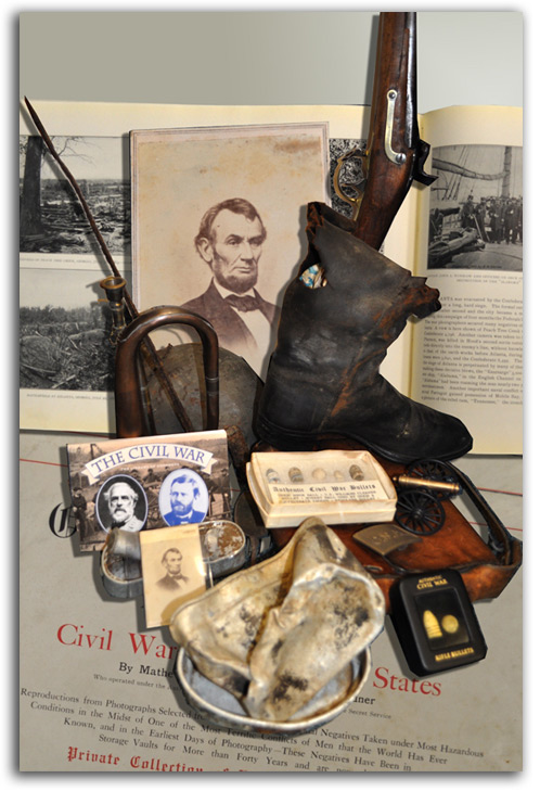 Image of Civil War display.