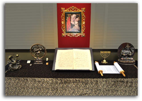 Image of World Religions display.
