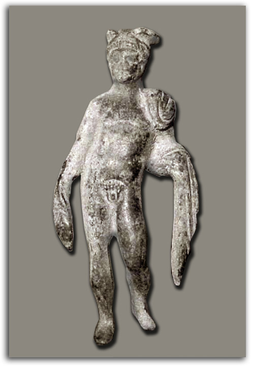 Image of statuette of Hermes.