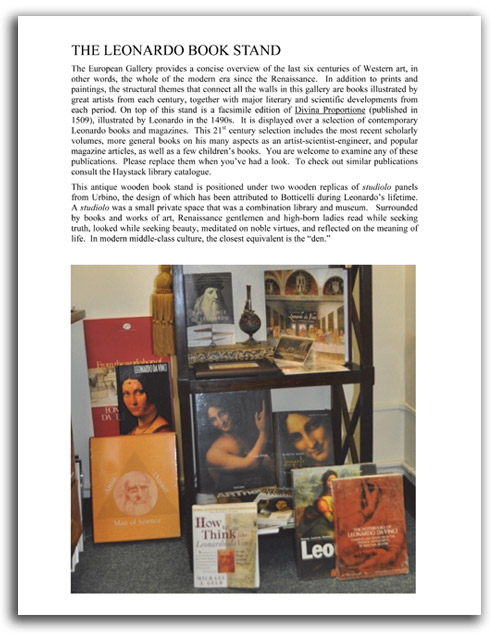 Image of 'Looking at Leonardo' booklet - page 7.