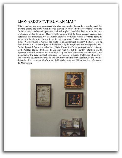 Image of 'Looking at Leonardo' booklet - page 9.