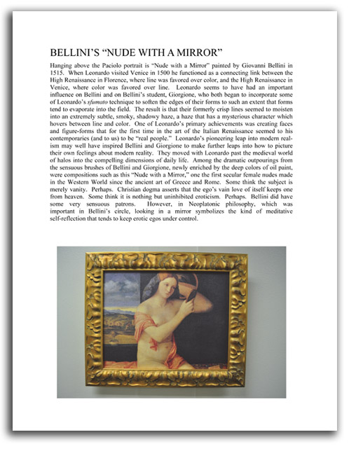 Image of 'Looking at Leonardo' booklet - page 10.