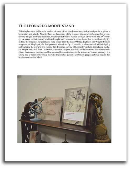 Image of 'Looking at Leonardo' booklet - page 13.
