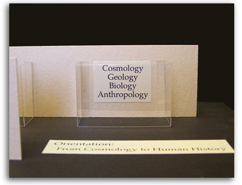 Image of Cosmology wall in Museum Model.