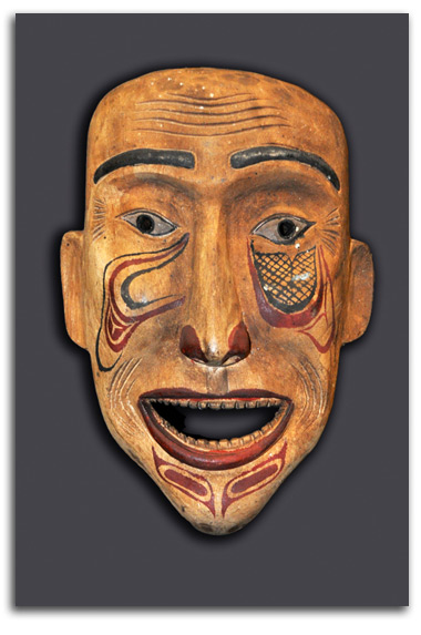 Image of Northwest Coast shaman mask.