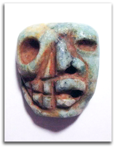 Image of Olmec Nonduality Face - first view.