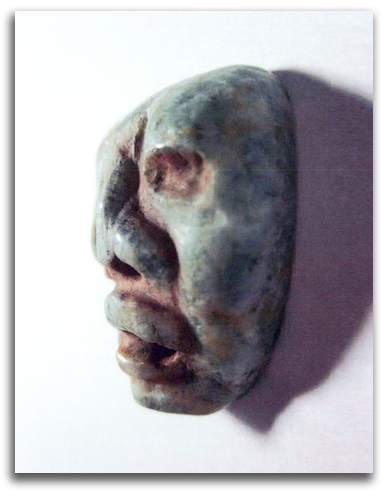 Image of Olmec Nonduality Face - second view.