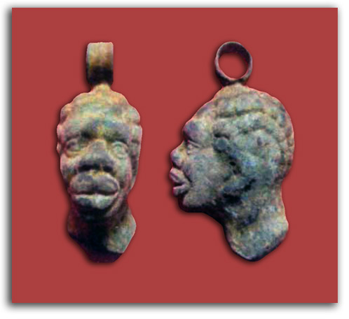 Image of Roman pendant depicting African man.